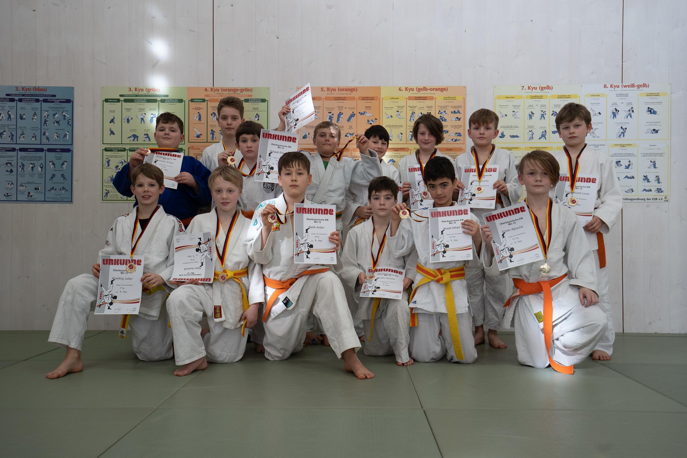 Oberbayerische Einzelmeisterschaft der MU12